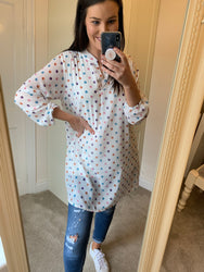 Kate White Polka Dot Top