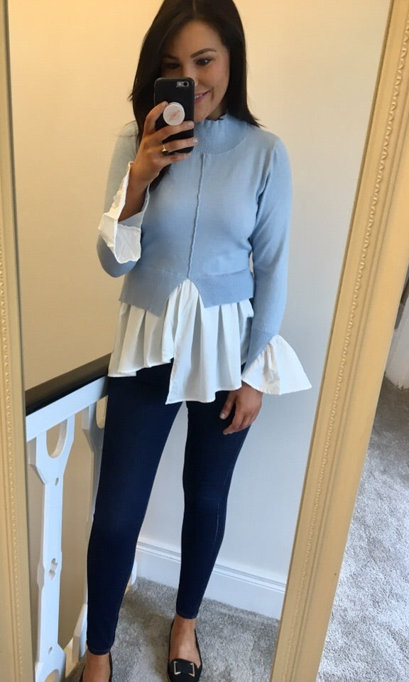 Baby Blue Layered Jumper