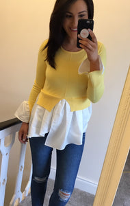 Yellow Layered Jumper