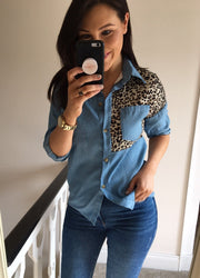 Cheetah Denim Shirt