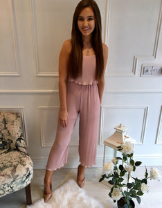 Blush Pleat Jumpsuit
