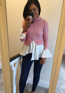 Baby Pink Layered Jumper