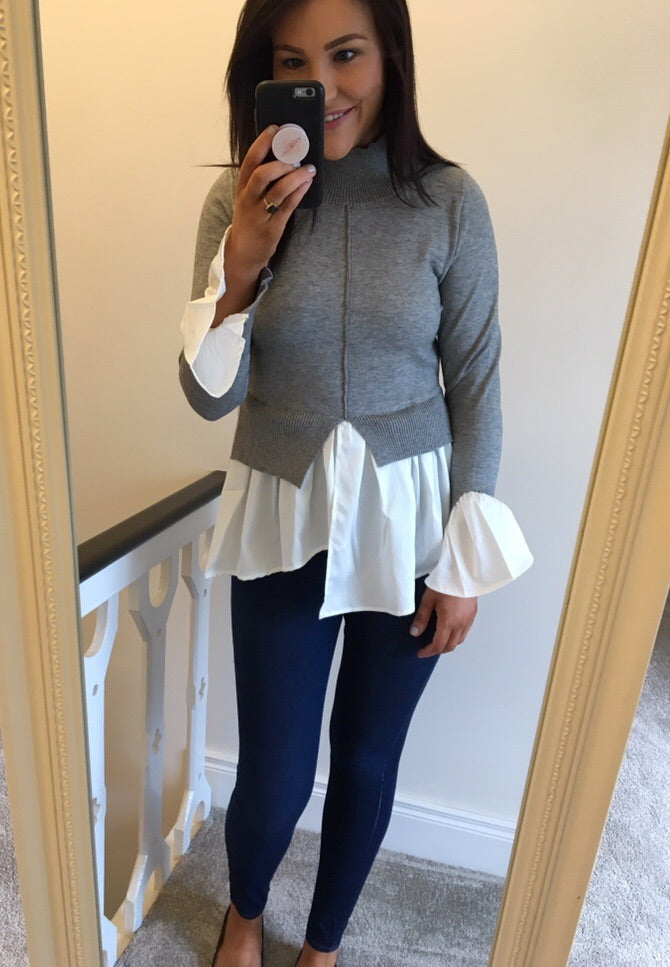 Grey Layered Jumper