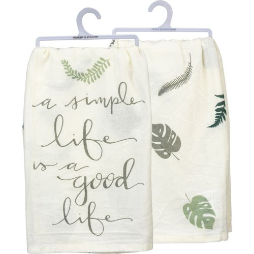A Simple Life Is A Good Life Dish Towel