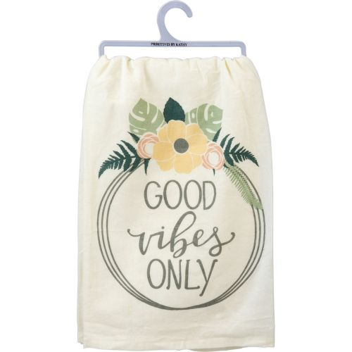 Good Vibes Only Dish Towel