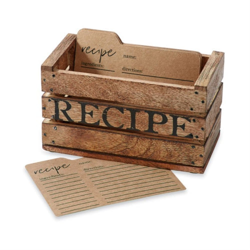 Rustic Crate Recipe Box