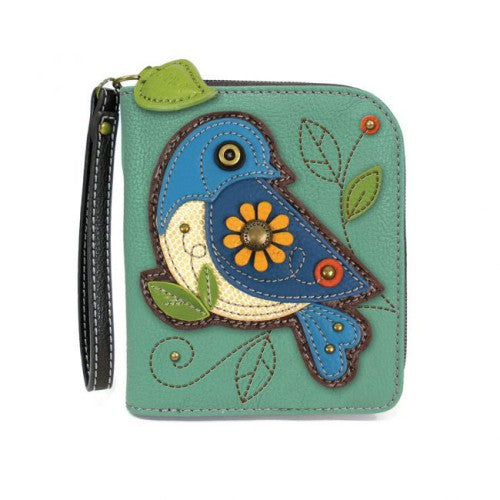 Chala Zip-Around Wallet Bluebird Teal