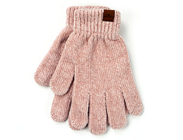 Beyond Soft Chenille Gloves Blush