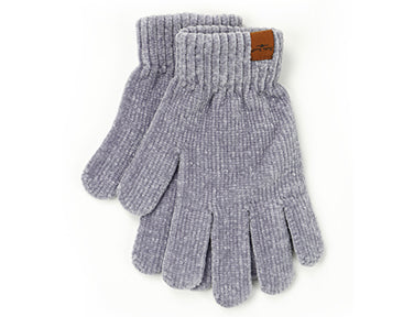 Beyond Soft Chenille Gloves Gray