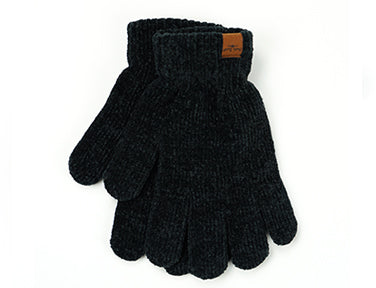 Beyond Soft Chenille Gloves Black