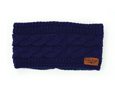 Cable Knit Headwarmer Navy
