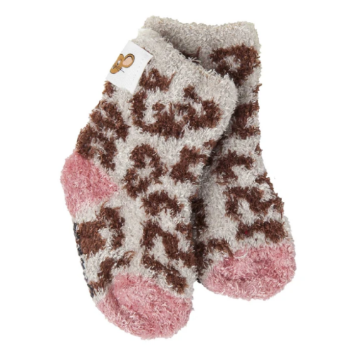 Infant Cozy Gripper Socks Cheetah