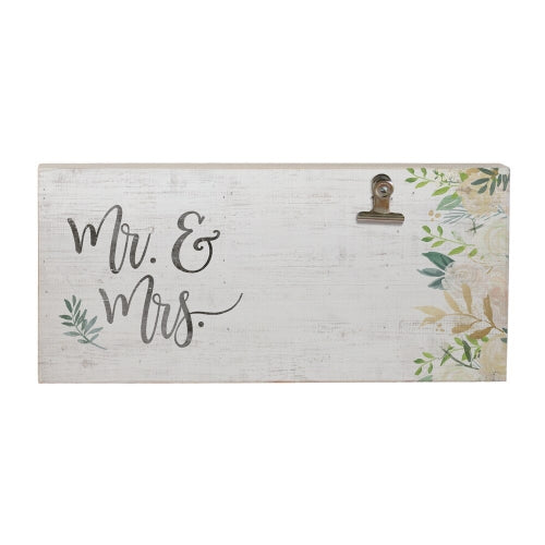 Mr. & Mrs. Picture Clip Sign
