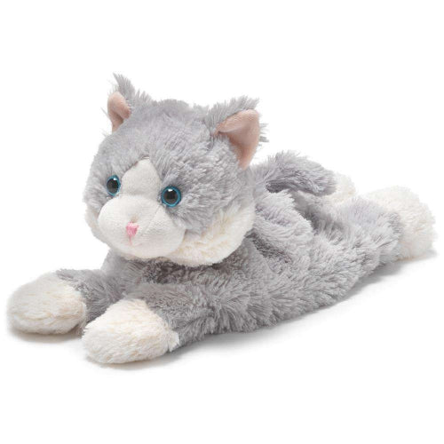 Warmies Laying Down Gray Cat