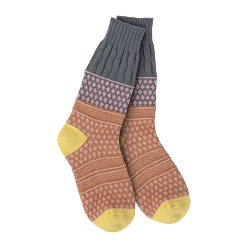 World's Softest Socks Weekend Textured Golden Fields