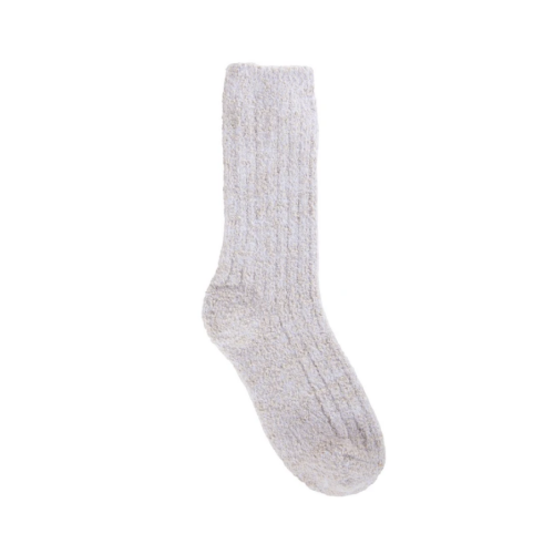 World's Softest Holiday Shabby Chic Crew Socks Oatmeal