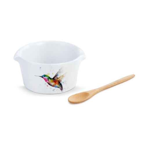 Incoming Hummingbird Appetizer Bowl with Spoon
