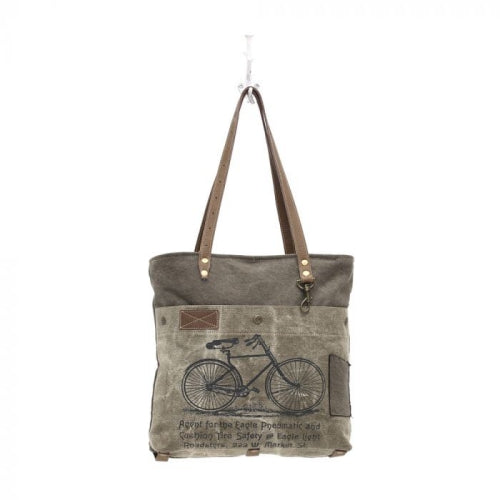 Myra Bicycle Green Tote