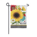 Sunflower Checks Garden Flag