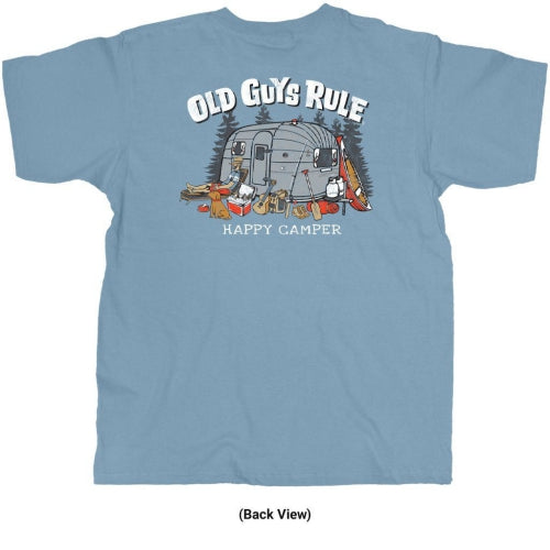 Old Guys Rule Happy Camper T-shirt