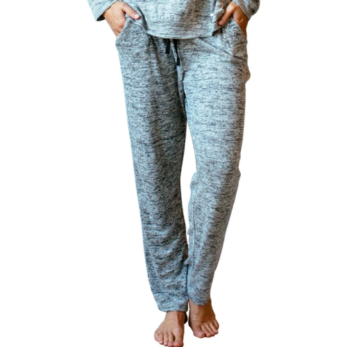 Hello Mello Drawstring Lounge Pants Gray