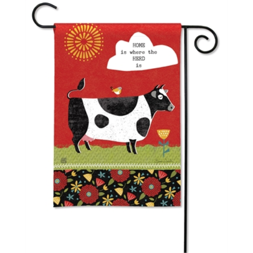 Farm Charm Cow Garden Flag