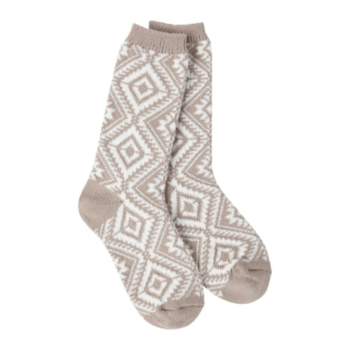 World's Softest Socks Weekend Aztec Taupe