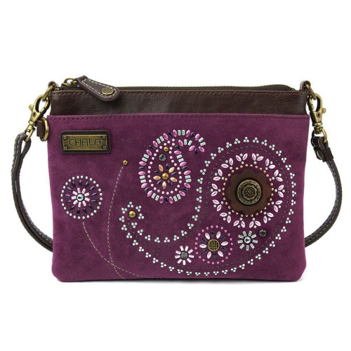 Chala Dazzled Mini Crossbody Paisley Purple