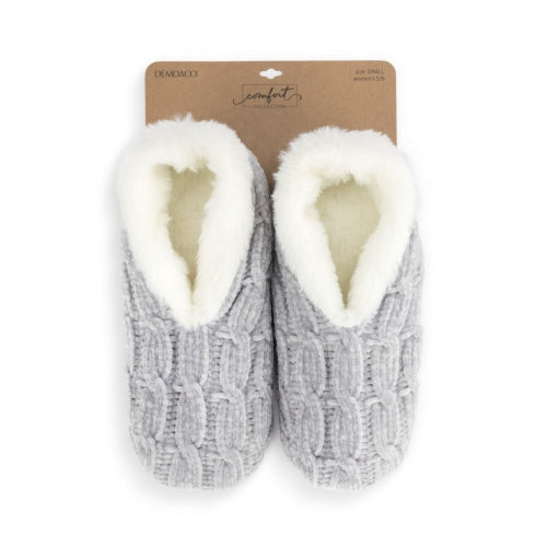 Gray Chenille Slippers