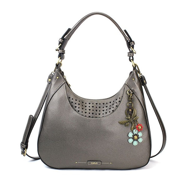 Chala Dragonfly Sweet Tote/Hobo Pewter