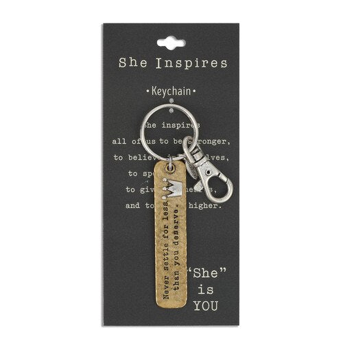 Never Settle Keychain