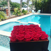Red Deluxe - 25 Roses (Alligator Hat Box) - Roses Ever After