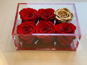 Christmas Red and Gold Roses - Roses Ever After