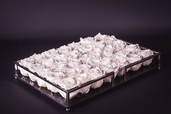 Black & Silver Contemporary Tray - Roses Ever After
