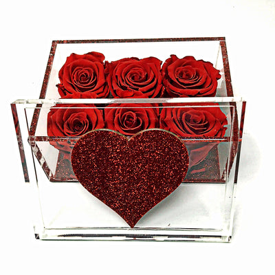 Lucite Heart Collection - Roses Ever After