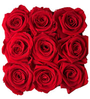 Square Shaped Heart Box 9 roses that last a year - Roses Ever After