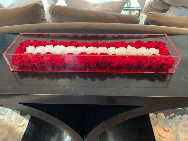 Christmas Table Centerpiece 36 inches, approximately 6 dozen roses