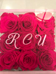 Monogrammed Lucite Boxes - Roses Ever After