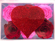 Lucite Heart - Roses Ever After