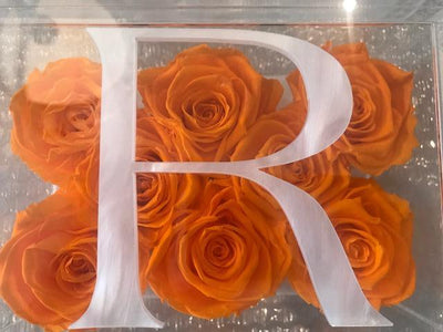 Single Large Initial - Roses Ever After
