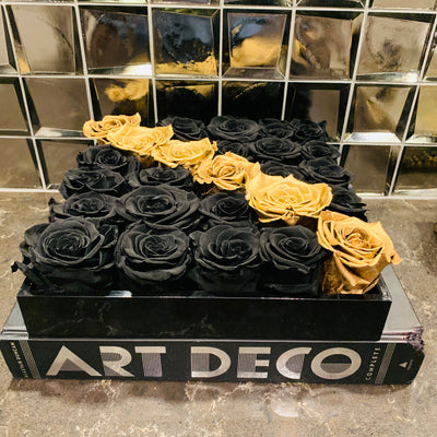Black Coffee Table Centerpiece - Roses Ever After