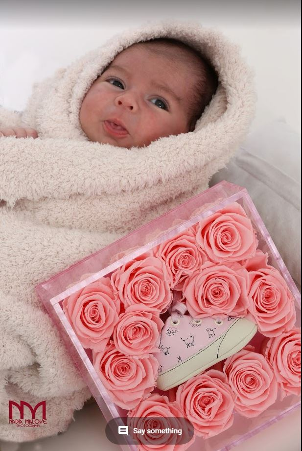 The Unique New Born Baby Girl Gift - Roses Ever After
