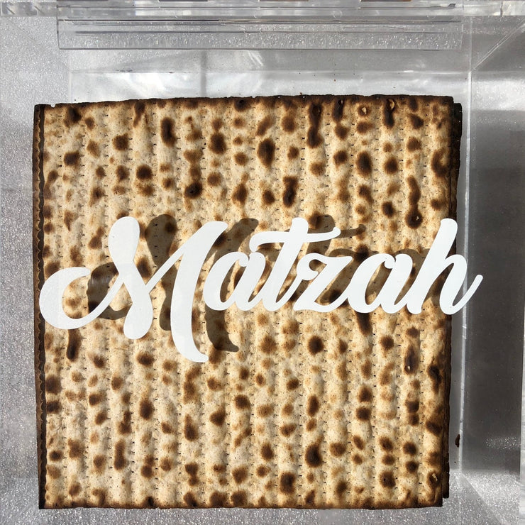 The perfect Passover Gift - A modern lucite Matzah box - Roses Ever After