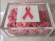 Breast Cancer Awareness, pink roses that last a year. - Roses Ever After
