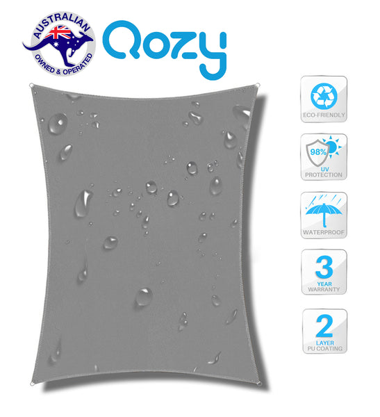 Qozy Waterproof canopy shade sail patio pool garden anti UV rectangle Square