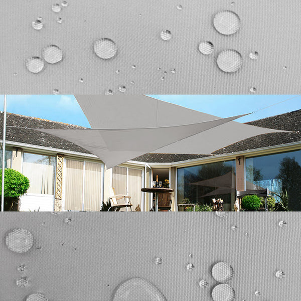 Qozy Waterproof canopy shade sail patio pool garden UV Square Rectangle Grey