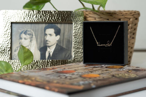 Handwriting Jewelry Necklace Custom Personalized Unique Gift Idea