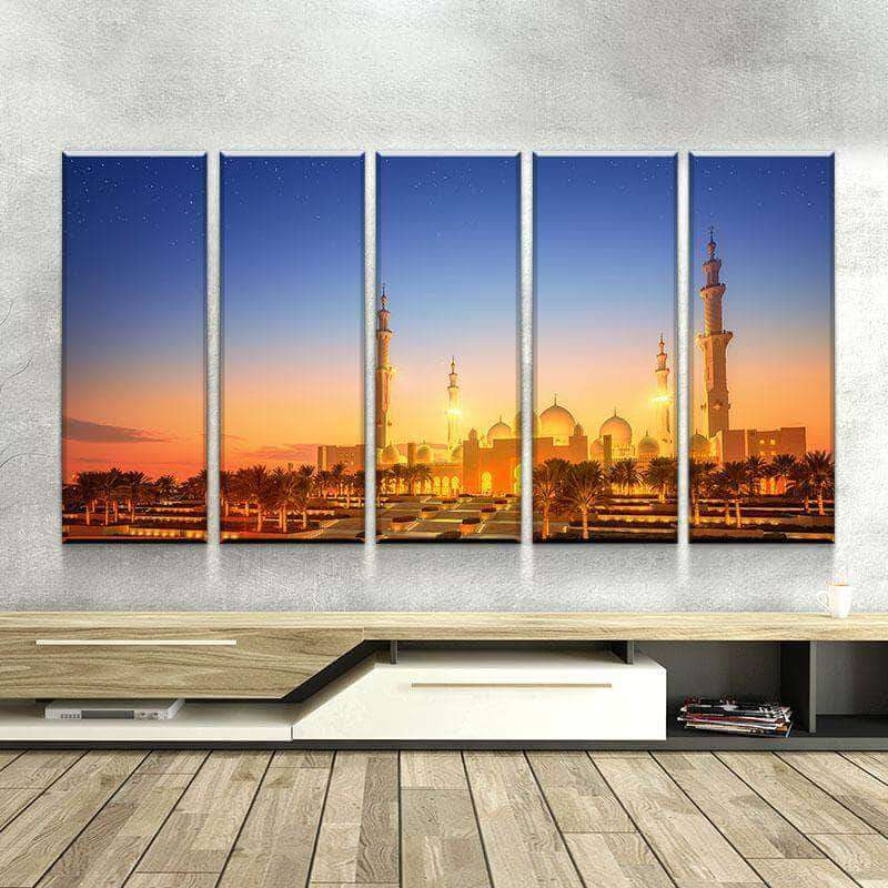 SHEIKH ZAYED GRAND MOSQUE | AT DUSK | CANVAS