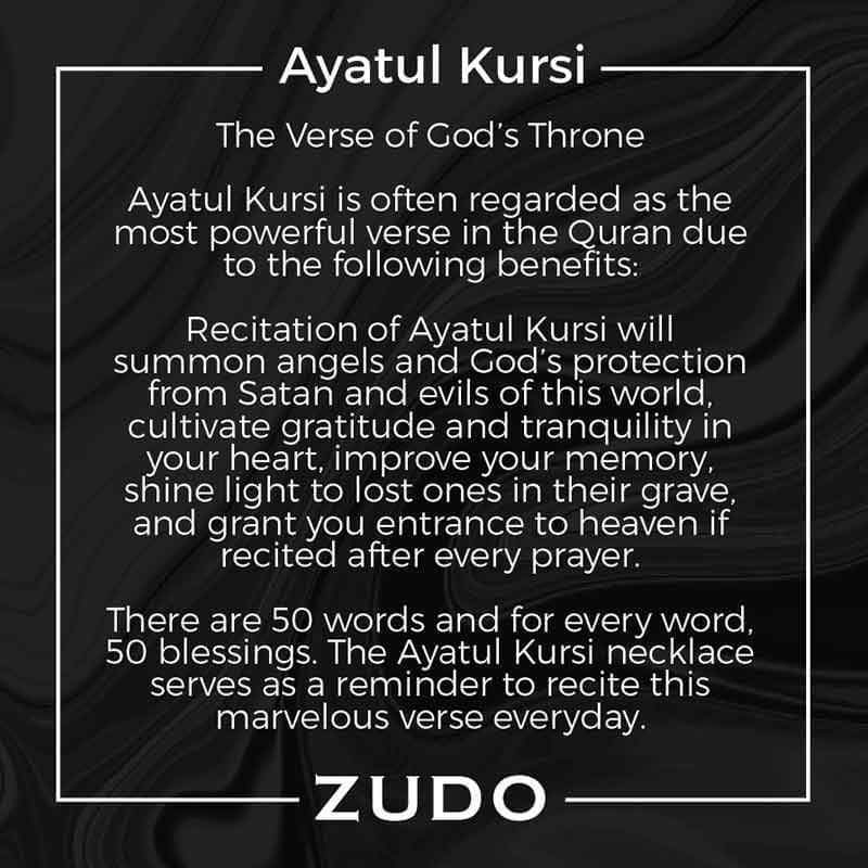 ZUDO Ayatul Kursi Necklace