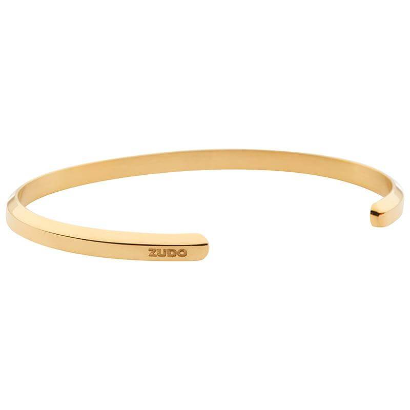 ZUDO-Sabr-Cuff-Gold-side logo